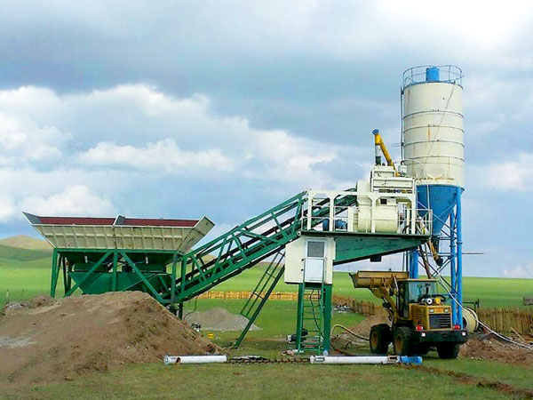 YHZS25 mobile cement plant