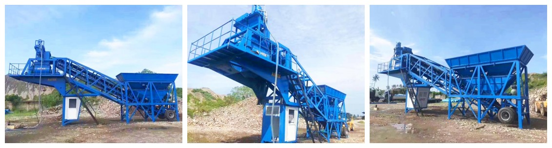 YHZS35 mobile concrete batch plant Philippines