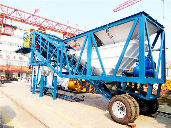 YHZS50 batching plant mobile
